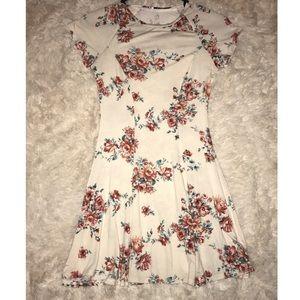 Blush white floral dress
